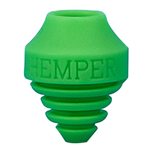 HEMPER A-Dab-TER | Silicone Vape Pen Adapter for Water Pipes | Round & Flat Tips (Green)