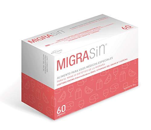 Migrasin - Manejo dietético migraña causada por déficit de DAO - 60 Cápsulas con Pellets Gastrorresistentes