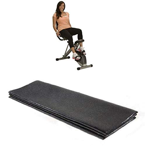 Exerpeutic 400XL Folding Recumbent Bike and Stamina Equipment Mat Bundle