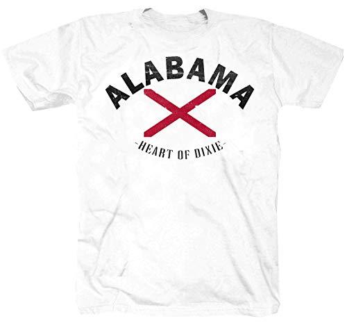 Camiseta Alabama USA Route 66 Amerika Texas Alaska Chopper Motocicleta Oldschool Blanco Blanco XXL
