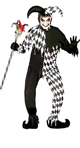Guirca- Disfraz adulto black joker, Talla 52-54 (80688.0)