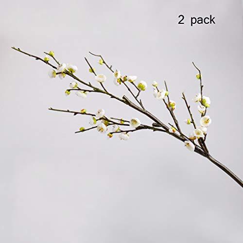 Sarazong Fleur de Prunier Artificielle, Faux Fleur Décoration de Prunier Composition Florale Salon Ameublement Faux Fleur Fleur Artificielle,B