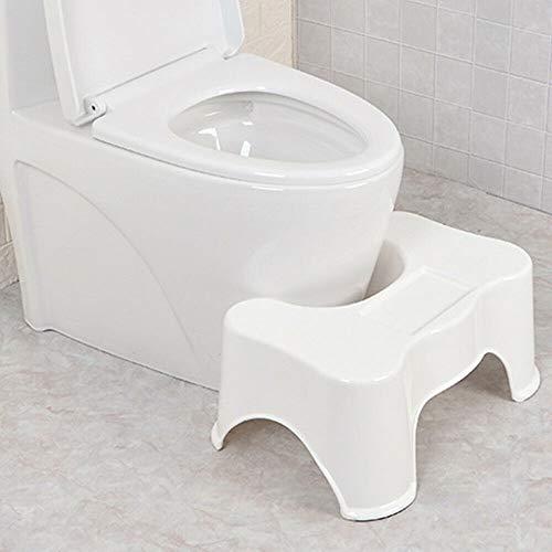 WUPYI2018 Medizinische Toilettenhocker, WC-Hocker Fussbankfür Kinder oder Erwachsene, Plastik, weiß, 49 x 34 x 22 cm