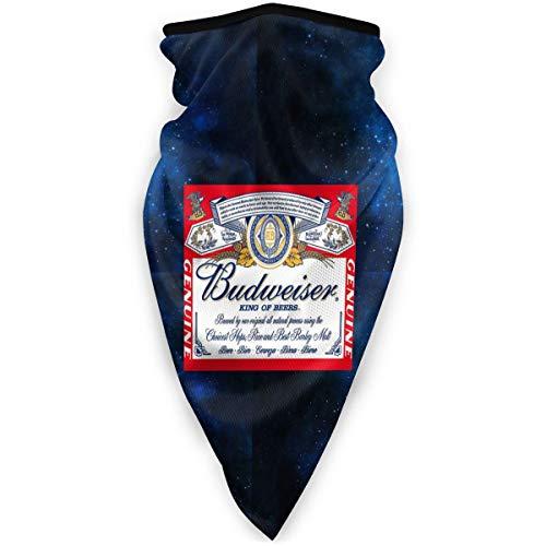 NUBOMINI Budweiser Bier Logo Cover Bescherming - Unisex Neck Warmer Balaclavas Hoofdband voor Outdoor Activiteiten Sport