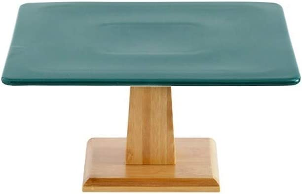 Baltimore Mall Cake New popularity Holder For Home Bedroom Living Green Dark Ceram Room Table