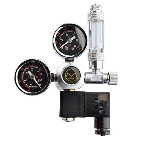 Tokenhigh Druckminderer CO2 Variante Mehrweg mit 2 Manometer,fest verbauten Magnetventil und Rückschlagventil Nadelventil Aquarium Nachtabschaltung W21.8 Interface für Aquarium System