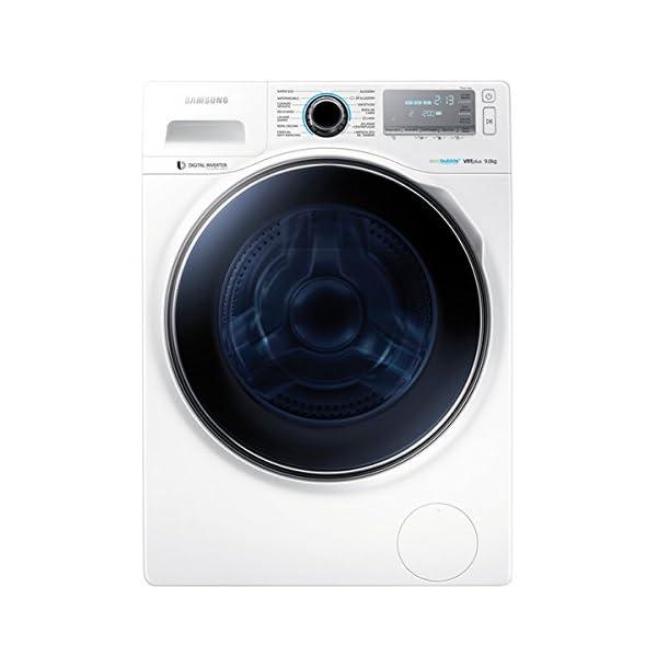Samsung – Lavadora de carga frontal Ecobubble WW90H7610EW/EC de 9 Kg y 1.600 rpm