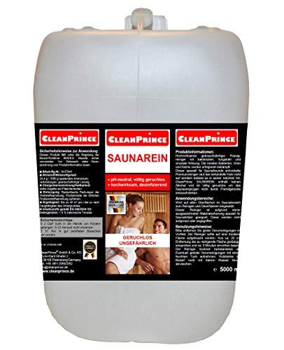 Saunareiniger flüssig 5 Liter Saunaholzreiniger Holzreiniger Desinfektion Sauna Saunadesinfektion sofort gebrauchsfertiger Nachfüllkanister