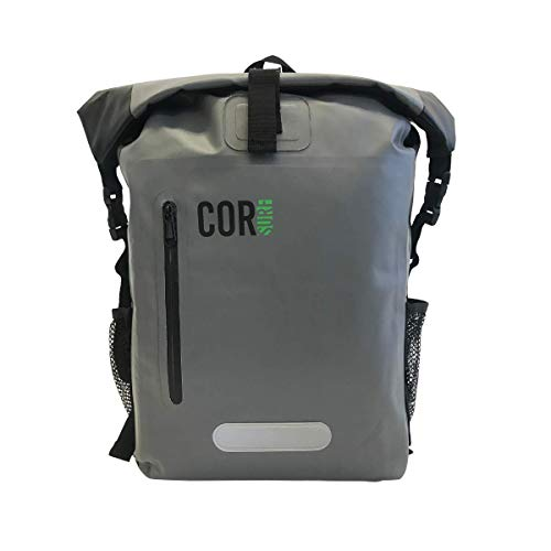 COR Surf 100% Waterproof Heavy Duty Backpack and Dry Backpack for Swimming, Boating Or Kayaking, Roll-top Design with Sonically Welded Seams and Padded Laptop Sleeve (25L, 18 x 13 x 7 Inches)