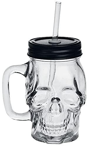 Alchemy Gothic Skull Glass Unisex Vaso Cerveza Standard, vidrio, 0,33 l