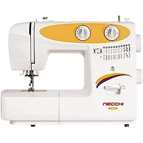 Necchi N85 - Máquina de coser, interior de aluminio fundido a presión, carcasa de ABS, amarillo, normal