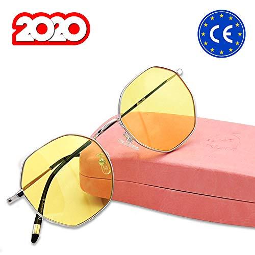 KLIM™ Juliette - Gafas Anti Luz Azul para Mujer + Evita la Fatiga Ocular + Gafas para Ordenador, Móvil TV, Tablet + Alta protección + Potente Filtro de luz Azul 92% + Anti UV + Nuevas 2020