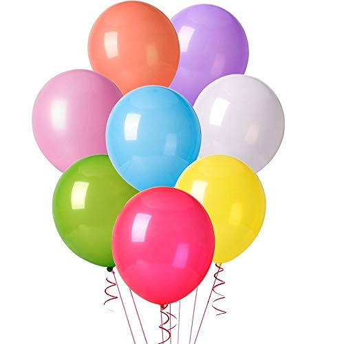 ocballoons Conf. 100 Lattice Compleanno Decorazioni Feste Happy Birthday Addobbi per Feste di Compleanno Bambina Bambini Matrimonio Baby Shower Decorazioni Compleanno Gonfiabili con Bombola Elio
