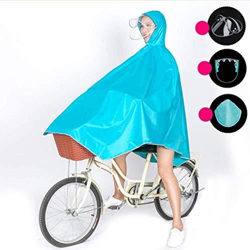 ZXL regenjas mannen en vrouwen Single Thick poncho outdoor regenkleding volwassenen fiets regenjas regenjas regenkleding (kleur: Navy)