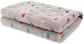 JOANNA'S HOME Baby Fleece Blanket Soft Warm Polka Dot Bed Blankets for Kids Girls and Boys for Swaddle, Stroller, Bed, Car, Travel