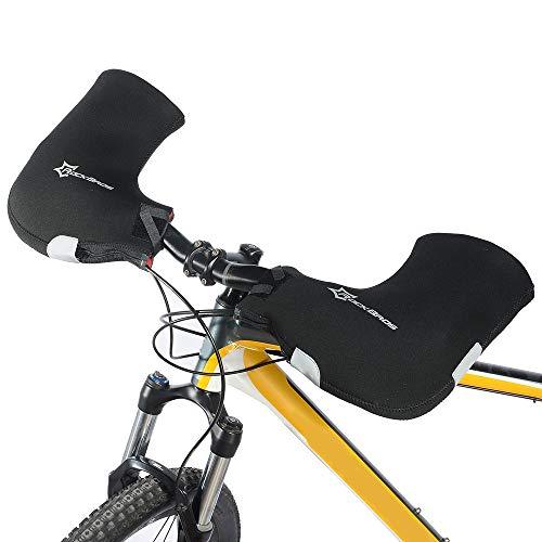 Lixada 1 Paar Lenkerhandschuhe Cyclist Fäustlinge für den Winter Wärmeabdeckung für Mountainbike MTB Motorrad Lenker Hände warm halten, Wasserabweisendes Material/Reflektierend (Typ 1)