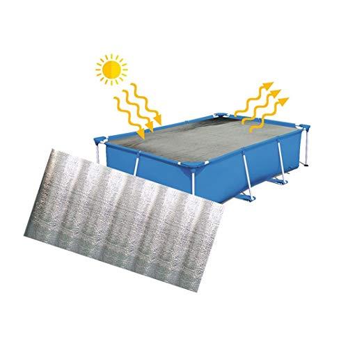Beudylihy Pool Isolierabdeckung Schwimmbecken Schutzfolie Poolabdeckungen Pool Solar Cover Protector (Mehrfarbig, 160X320CM)