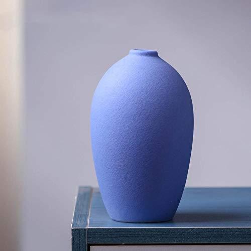 Craftscmq Decoracion de Porcelana Decoracion Ceramica de florero de ceramica de Flores secas para el hogar Sala de Estar gabinete de TV Mesa de Comedor arreglo Floral