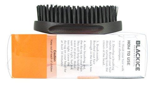 Black Ice Magic Wave 5.25'' Curved Palm Brush Hard Premium Boar by Black Ice