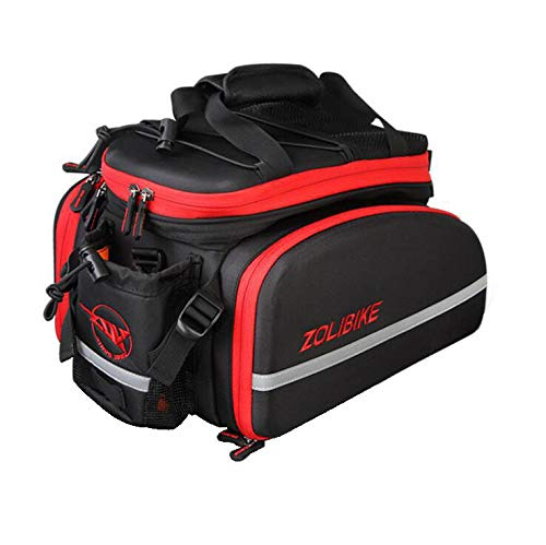 Check Out This YUYAXBG Fashion Rear Bicycle Pannier Bag Bike Rear Seat Trunk Bag Both Sides can be e...