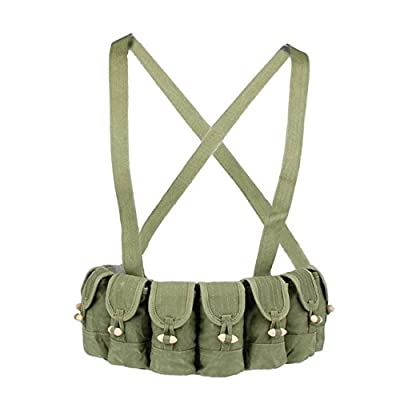 Heerpoint Surplus Chinese Military SKS Type 56 Semi Mag Pouch Army Ammo Pouches Chest Rig Bandolier