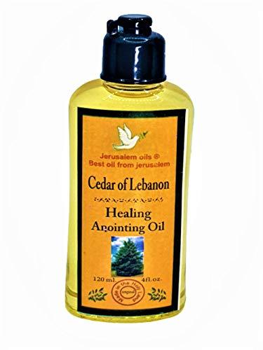 Anointing Oil from Israel -Cedar of Lebanon - Biblical Oil Made in Jerusalem 120 ML/ 4FL.OZ by SOLOMON4U (Cedar of Lebanon.)