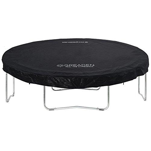 Grote beschermhoes van PVC, zwart, voor trampoline Freestyle 305 cm