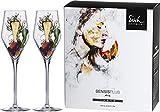 EISCH Champagnerglas SKY in SENSISPLUS-Qualität für ein beeindruckendes Aroma-Erlebnis – Set aus 2 Kristallgläsern 260 ml mit Moussierpunkt, bruchsicher & spülmaschinenfest – Made in Germany