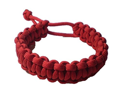 Mad Max Adjustable Paracord Survival Bracelet Tom Hardy Fury Road RED Friday Version (6-6 1/2 inch)