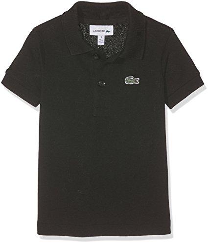 Lacoste Jungen Pj2909 Poloshirt, Schwarz (Noir), 1 Jahre (Herstellergröße: 1A)