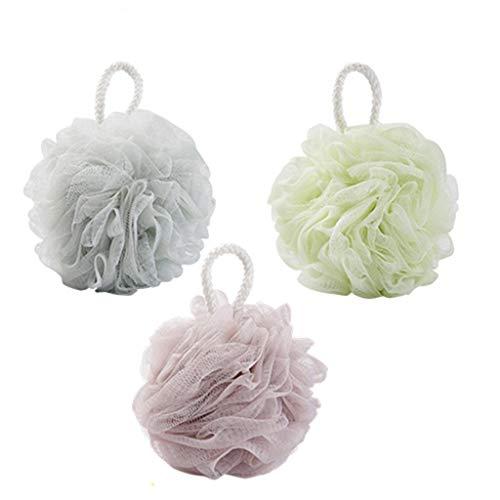 Bain Puffs, 3 Pack Douche Éponges Mesh Bain Loofahs éponge Pouf for Le Bain Douche Douce sain et Confortable (Trois Packs) (Color : A)