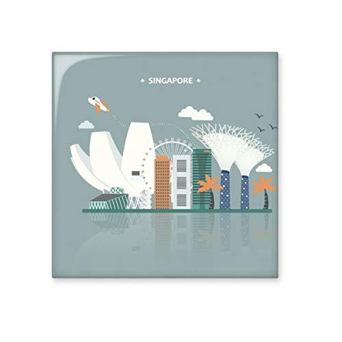 Singapore Beroemde Plaatsen Landmark Keramische Bisque Tegels Badkamer Decor Keuken Keramische Tegels Wandtegels L