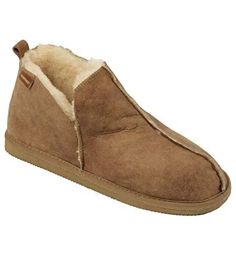 Shepherd Damen stiefel-stil lammfell pantoffel mit Leder Obermaterial - Kastanie, 3.5 UK