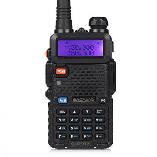 BAOFENG UV 5R 8W Funkgerät 10 KM Reichweite 2m/70cm VHF&UHF Amateurfunk mit Headset (1 Stück)