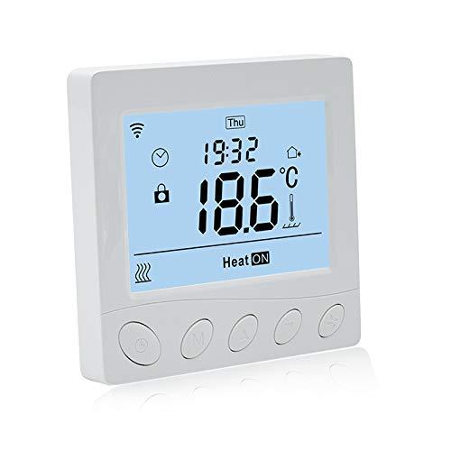Beok Termostato de calefacción WIFI inteligente para calefacción de suelo eléctrica con...