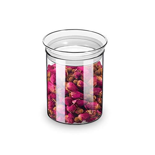 ZENS Vorratsglas mit Deckel, 450ml Vorratsdosen Glas Luftdicht ,Borosilikatglas Vorratsdose Behälter für Tee, Kräuter (nur Ein Vorratsdose Glas)