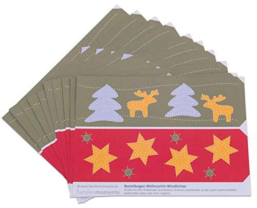 Unbekannt - Prickel-Windlichter Weihnachten, 10 Stück - Bastel-Idee Dekoration