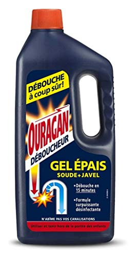WC Net Ouragan desatascador Gel Epais Sealer + Javel 1L (Lote de 3)