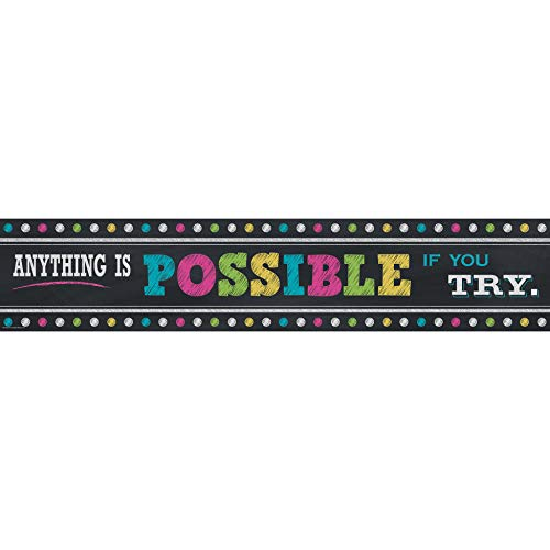 Teacher Created Resources Chalkboard Bright's Anything is Possible Banner (5840)