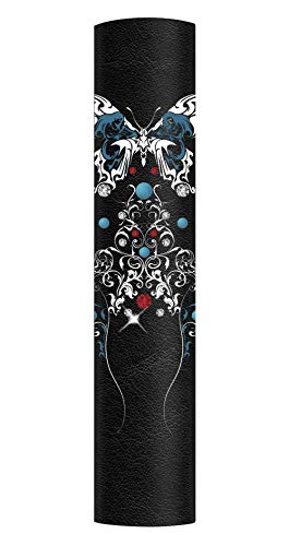 Hair Glove 4' Leather Tribal Turquoise Butterfly,