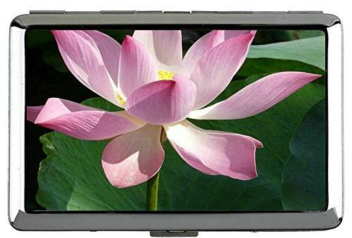 Yanteng Ornamental Lotus Flower Silber Metall Zigarettenetui-Lotus Visitenkartenetui Edelstahl (Silber)
