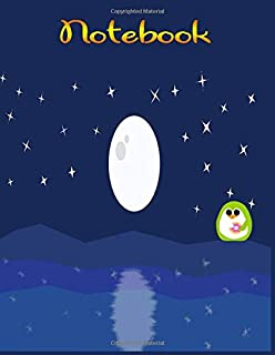 Brightest Moon in The Night Sky Notebook: Pretty Night Sky Journal(Composition Book, Journal) (8.5 x 11 Large)