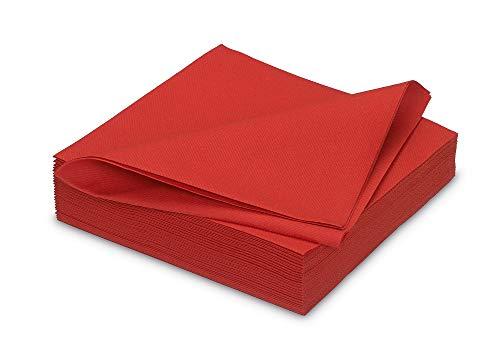 Fêter et recevoir 25 Serviettes Rouges 40 X 40 CM