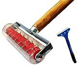 Perforateur de papier peint - Rouleau à picots pour papier peint 150 x 500 mm Rouleau hérisson, Rouleau...
