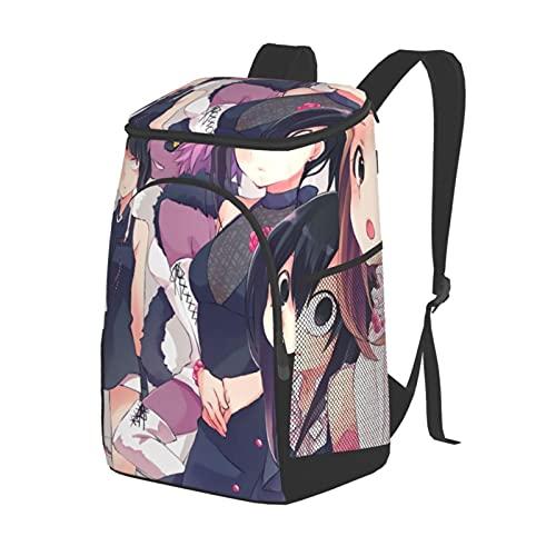 Boku no Hero Academia Outdoor shoulder insulation Game Outdoor Shoulder Insulation Bag Picnic Backpack Suitable for Family Outdoor Camping Black One Size