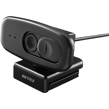 バッファロー BUFFALO WEBカメラ 200万画素 1920x1080 フルHD対応 30fps F2.0 CMOSセンサー プライバシーフィルター付き マイク内蔵 ケーブル1.5m ブラック BSW305MBK