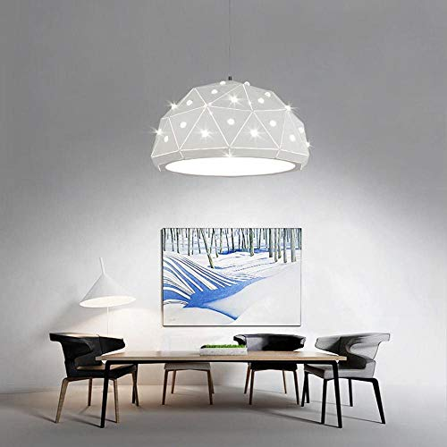 Kroonluchter plafond hanglampen Houten lampenkap van decoratieve lampen Opknoping licht for Dinner/Living Room, Wit licht XIUYU (Color : Warm Light)