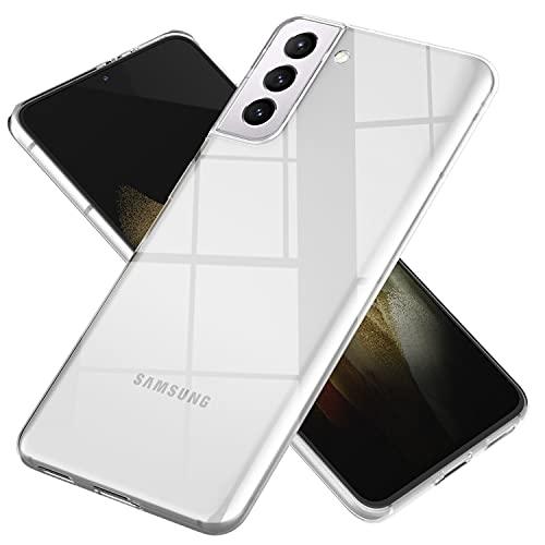 NALIA Claro Cubierta Compatible con Samsung Galaxy S21 Plus Funda, Cristal Silicona Goma Carcasa Protectora, Slim Crystal Clear Case Ultra-Fina Telefono Movil Proteccion Delgado Bumper - Transparente