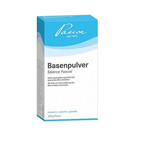 Pascoe® Basenpulver Balance AT: Magnesium, Calcium & Zink - für den Säure-Basen-Haushalt - Haut, Haare & Nägel - Basenfasten - vegan - ohne Zusatzstoffe - 260 g