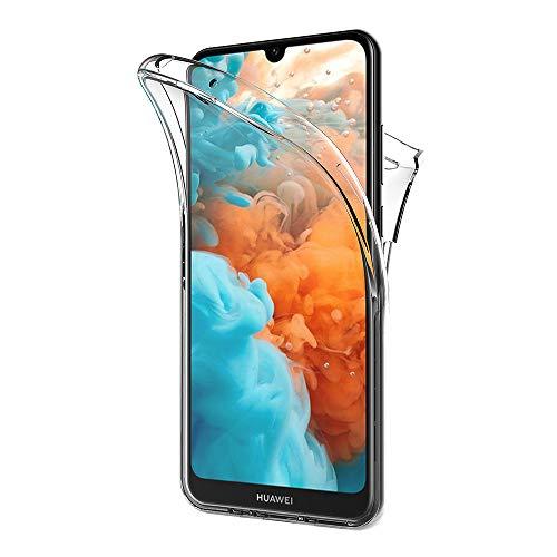 AICEK Hülle Compatible Huawei Y5 2019, 360°Full Body Transparent Silikon Schutzhülle für Huawei Y5 2019 Hülle Durchsichtige TPU Bumper Y5 2019 Handyhülle (5,71 Zoll)